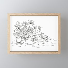 coffee table Framed Mini Art Print