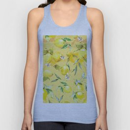 Watercolor lemons 5 Unisex Tank Top