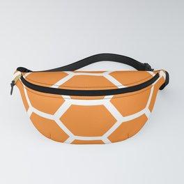 Orange Honeycomb Fanny Pack