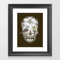Nature's Skull II Framed Art Print