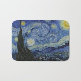 The Starry Night by Vincent van Gogh Bath Mat