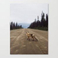road Canvas Prints featuring Road Fox by Kevin Russ