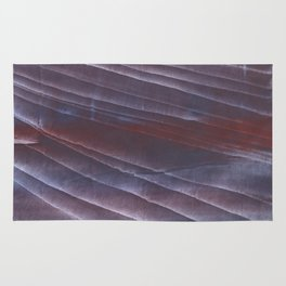 Dark purple striped wash drawing Rug