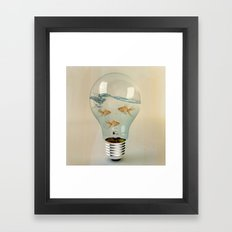 ideas and goldfish 03 Framed Art Print