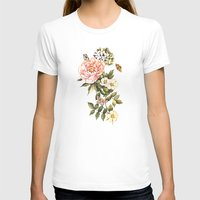 vintage floral T-shirts featuring Vintage floral watercolor background by Anna Yudina