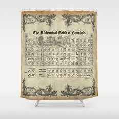 The Alchemical Table of Symbols Shower Curtain