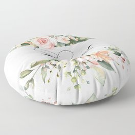 Floral Bride Floor Pillow