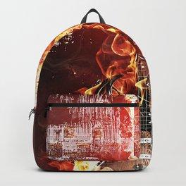 Brennende Gitarre Backpack