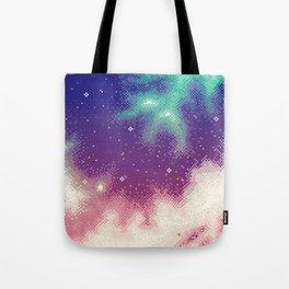 Rainbow Nebula (8bit) Tote Bag