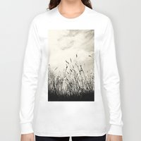 grass Long Sleeve T-shirts featuring Grass by Angela Fanton