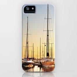 Luxury Sunset Sailing iPhone Case