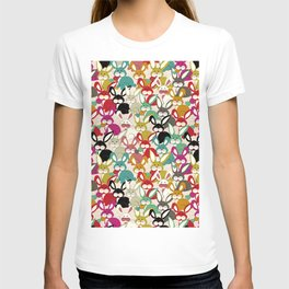 Colored  Easter bunny seamless pattern T-shirt