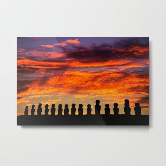EASTER ISLAND SUNRISE Metal Print