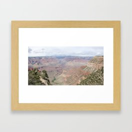 Majestic Grand Canyon with Tourists Framed Art Print