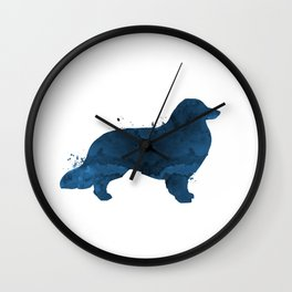 Longhaired dachshund Wall Clock