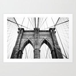 new york #3 - Brooklyn Bridge Art Print