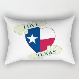 Love Texas Heart And Scroll Rectangular Pillow