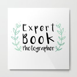 Expert Book Photographer Metal Print