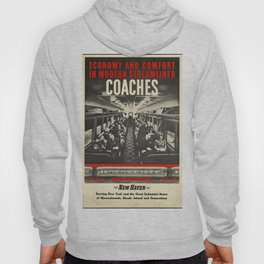 New Haven 01 - Vintage Poster Hoody