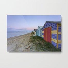 Beach Box Metal Print