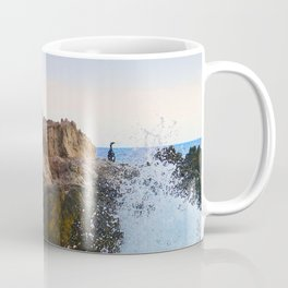 Bird Rock in Surf Near Big Sur, California Coffee Mug