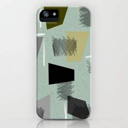 Mid-Century Modern Green Abstract iPhone Case