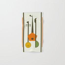 Mid-Century Modern Art Musical Strings Hand & Bath Towel