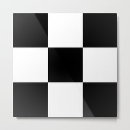 #2 Chessboard, squares Metal Print