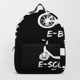 Lustiges Wortspiel zur E-Mobilität Auto elektrisch witziges  Backpack
