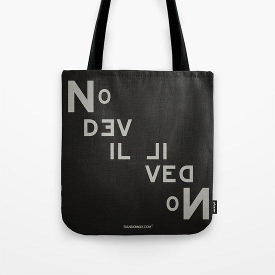 Palindrome: No Devil... Tote Bag