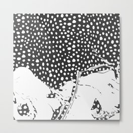 Modern Artistic Abstract Snow Scene Metal Print