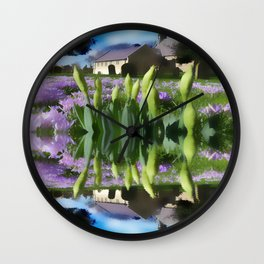 Snowdrops in reflection Wall Clock