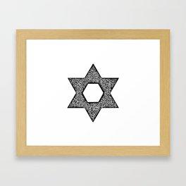 Star of David (Jewish star) Framed Art Print