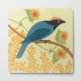 Blue bird perched on a tree limb Metal Print