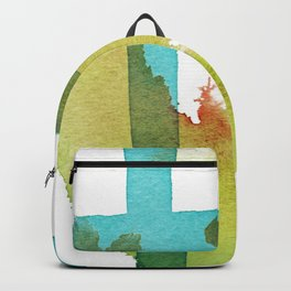Blue and Yellow and Green Abstract Art Backpack