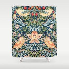 William Morris Exhibition Poster, Art Nouveau, Blue Marigold, Morris Flower Pattern, Floral Pattern, Home Decor Shower Curtain