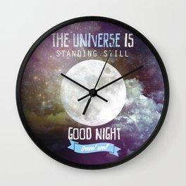 GOOD NIGHT TRAVEL WELL Wall Clock