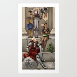 The Commander and the Dalish Girl Art Print