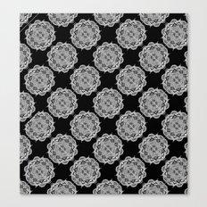 Mandala Tiles Noir Canvas Print
