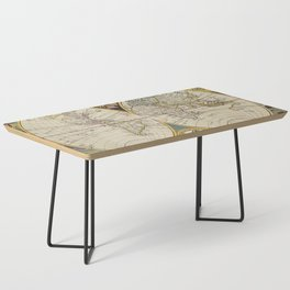 Antique Map Coffee Table