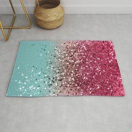 Tropical Watermelon Glitter #4 (Faux Glitter) #decor #art #society6 Rug