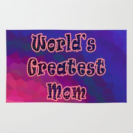 World's Greatest Mom Rug