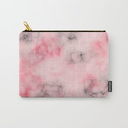 Pink and gray marble Carry-All Pouch