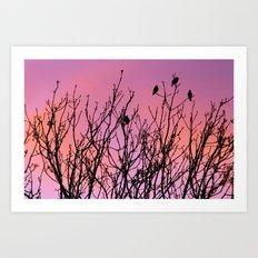 Tree Birds. Art Print