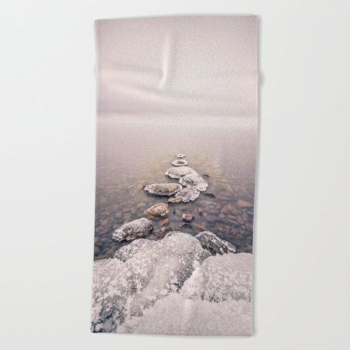 Frozen Path Beach Towel