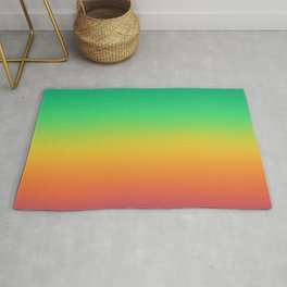 Bright Rainbow Ombre Rug