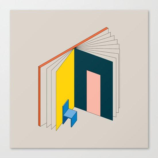 Book Flat Canvas Print