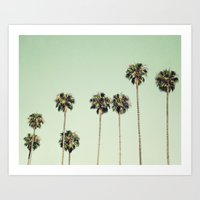 palm trees Art Prints featuring Palm Trees  by Laura Ruth