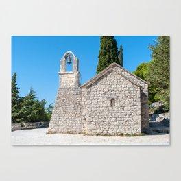 Small church in Croatia Canvas Print