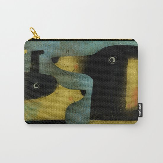 YELLOW AND BLACK HOUNDS Carry-All Pouch